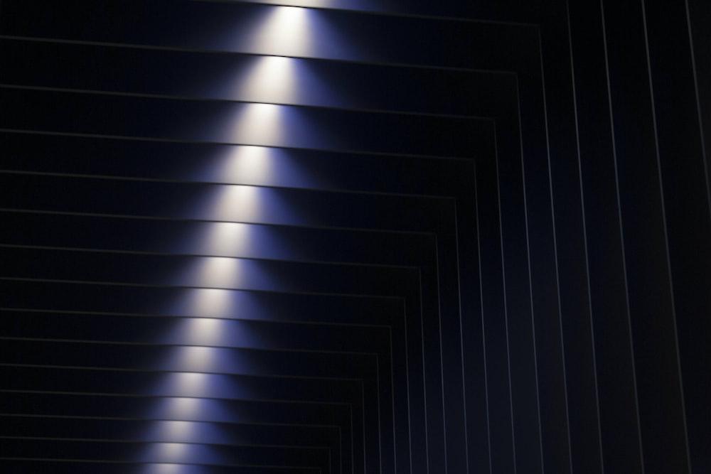 black and purple lights room
