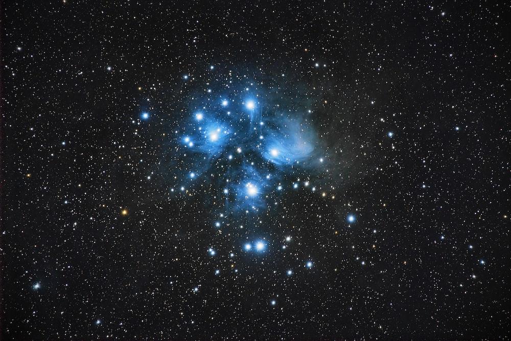 black, blue, and white stars