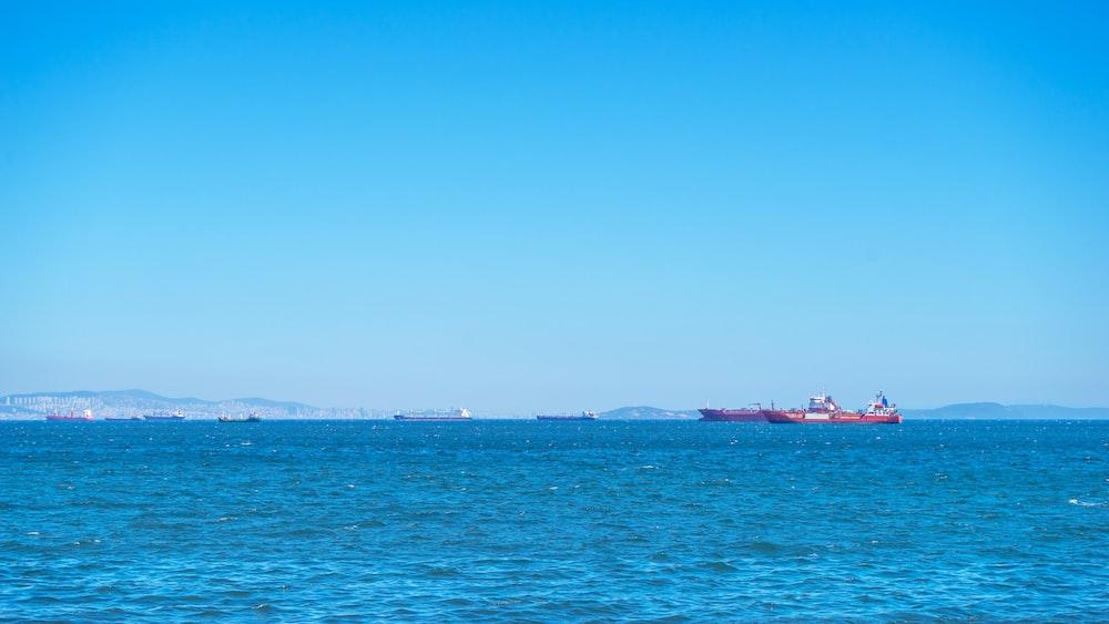 cargo ship on sea