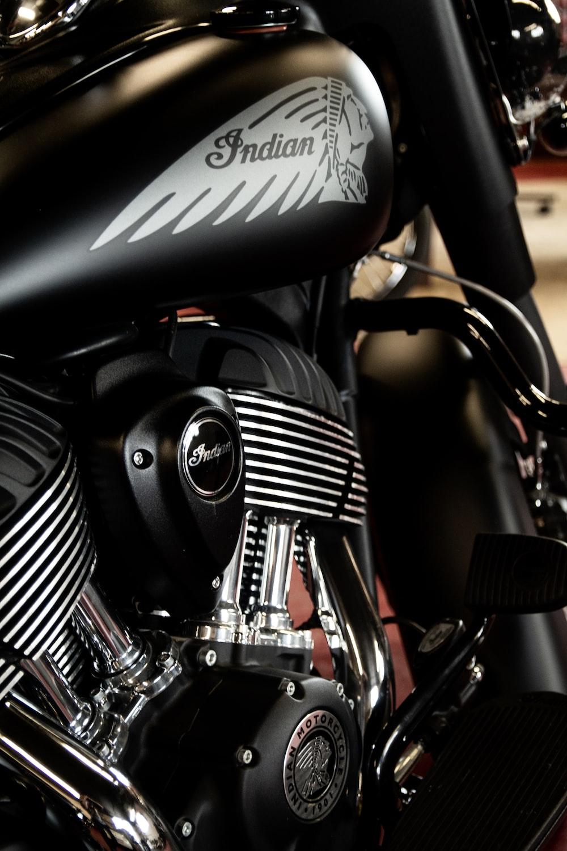 black Indian Motorcycle engine
