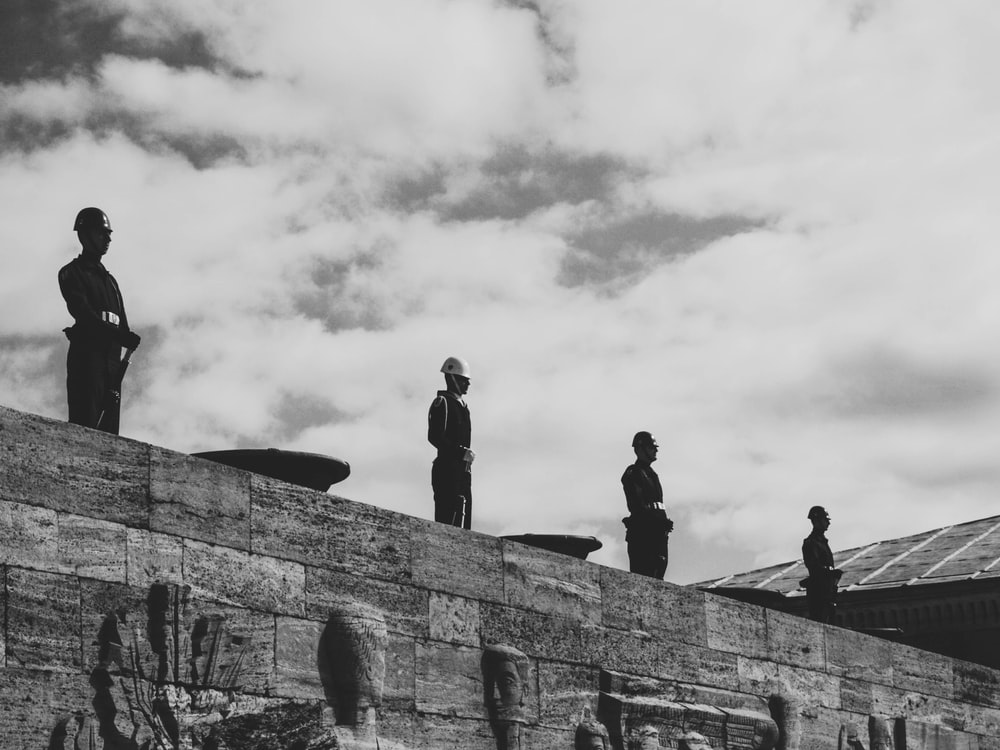 statues on wall