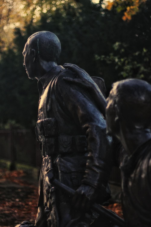black soldier statue