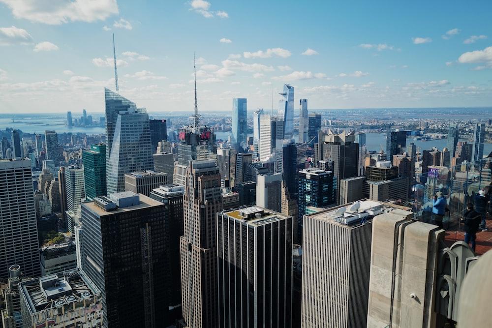 cityscape under blue sky