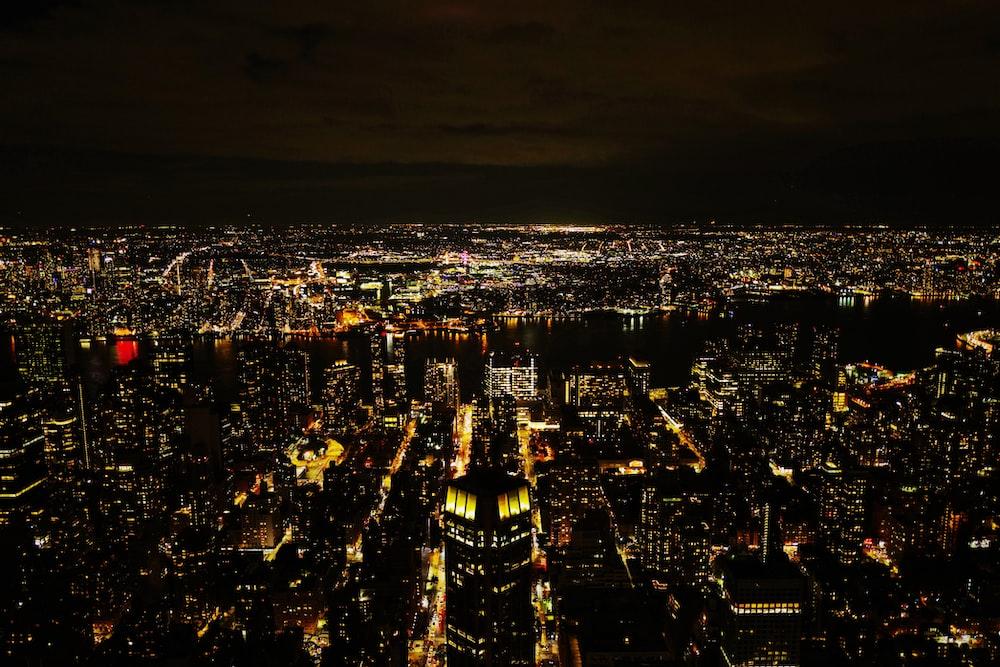 lights in city