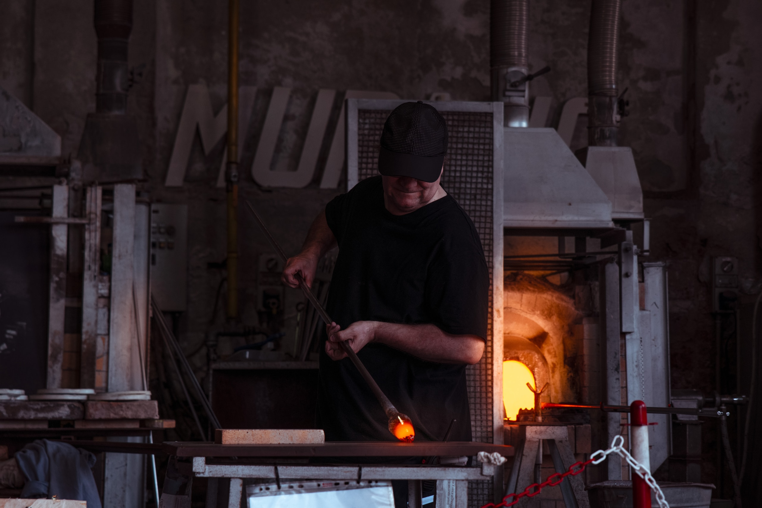 blacksmith standing at the table