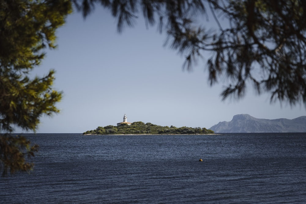 island with lighthouse