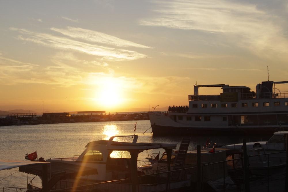 cruise ship in pier