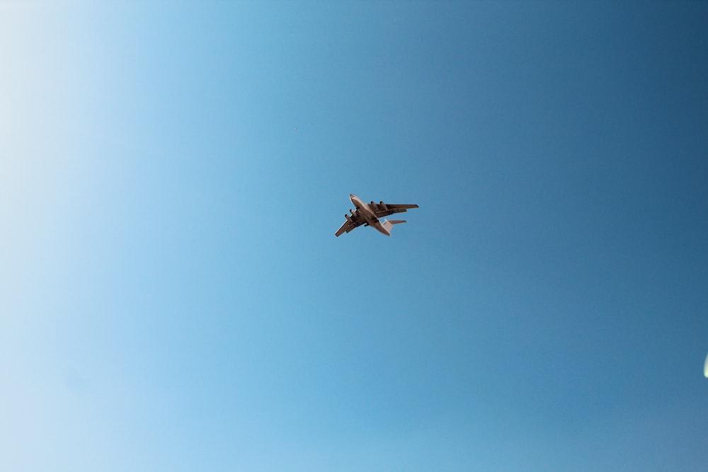 airliner on flight