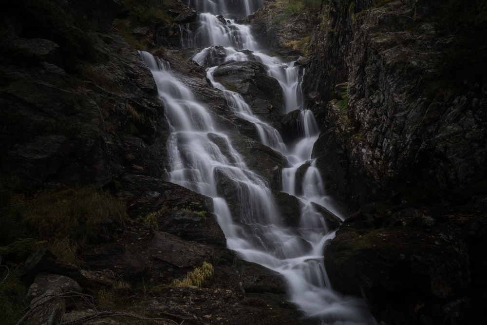 waterfalls at daytime