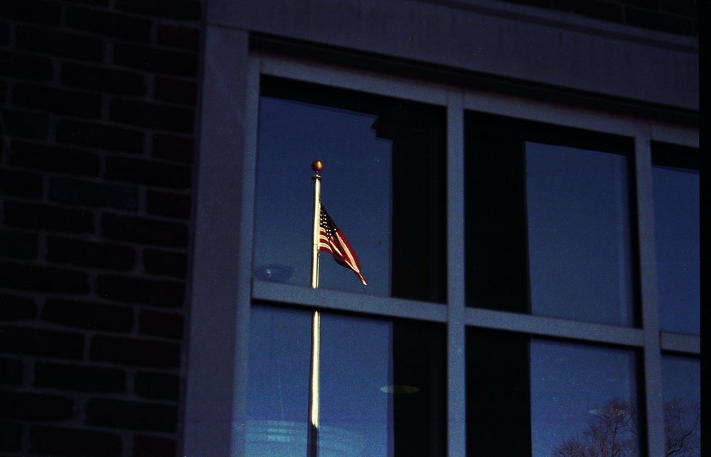reflection photography of U.S.A. flag