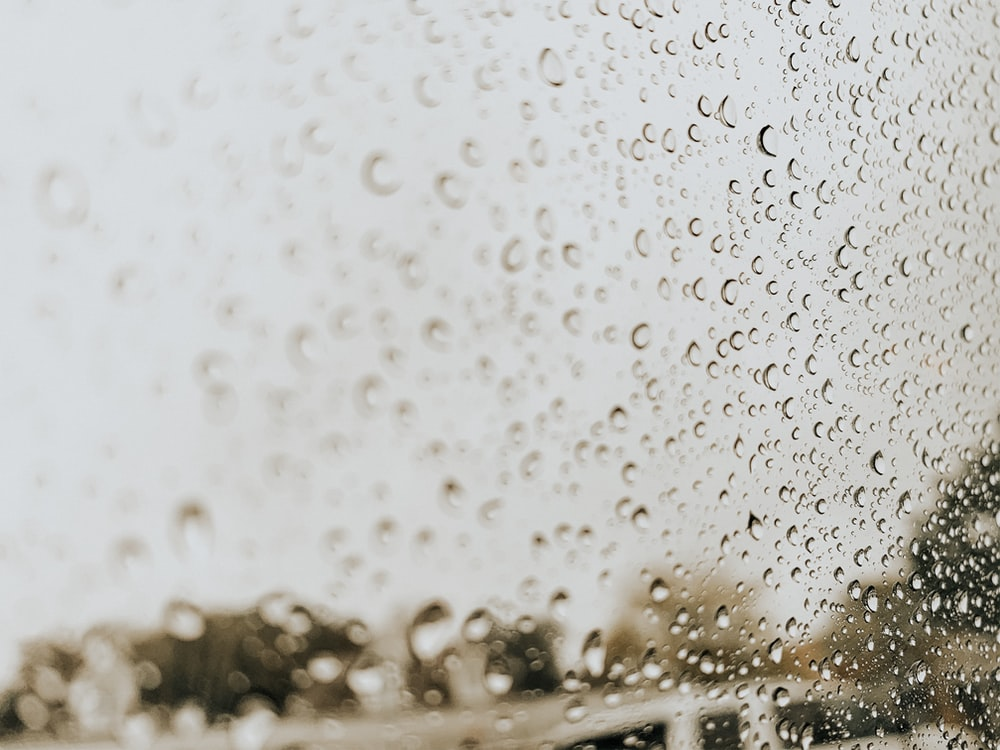 dew on glass panel