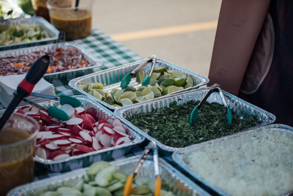 assorted sliced vegetables