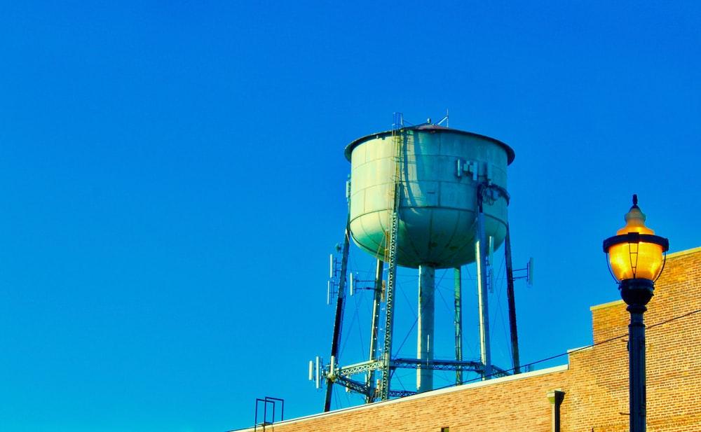 grey water tank photograph
