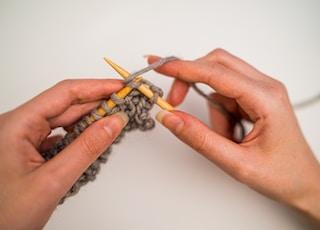 gray crochet sticks