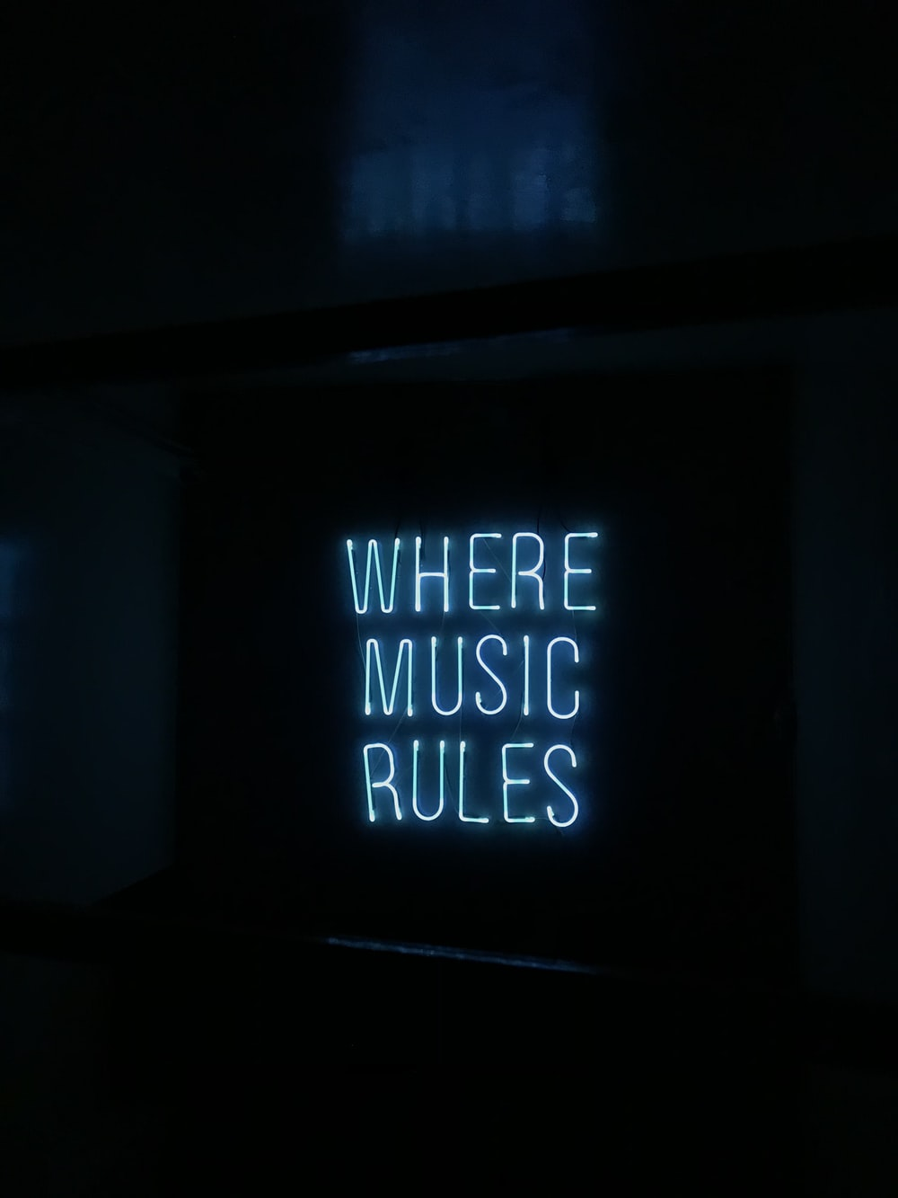 where music rules lighted signage