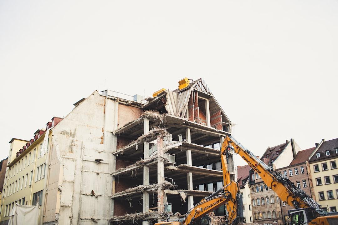 House demolition wrecking ball