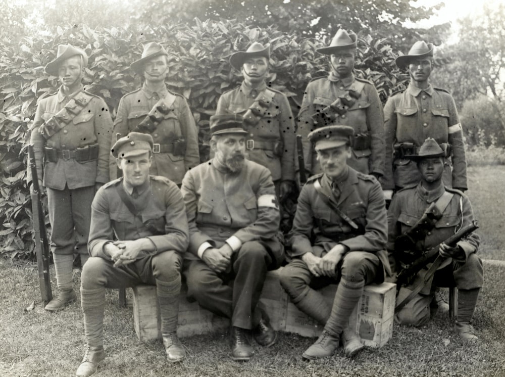World War 1  Group of officers and men