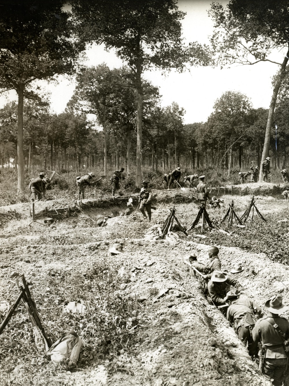 World War 1 building trenches