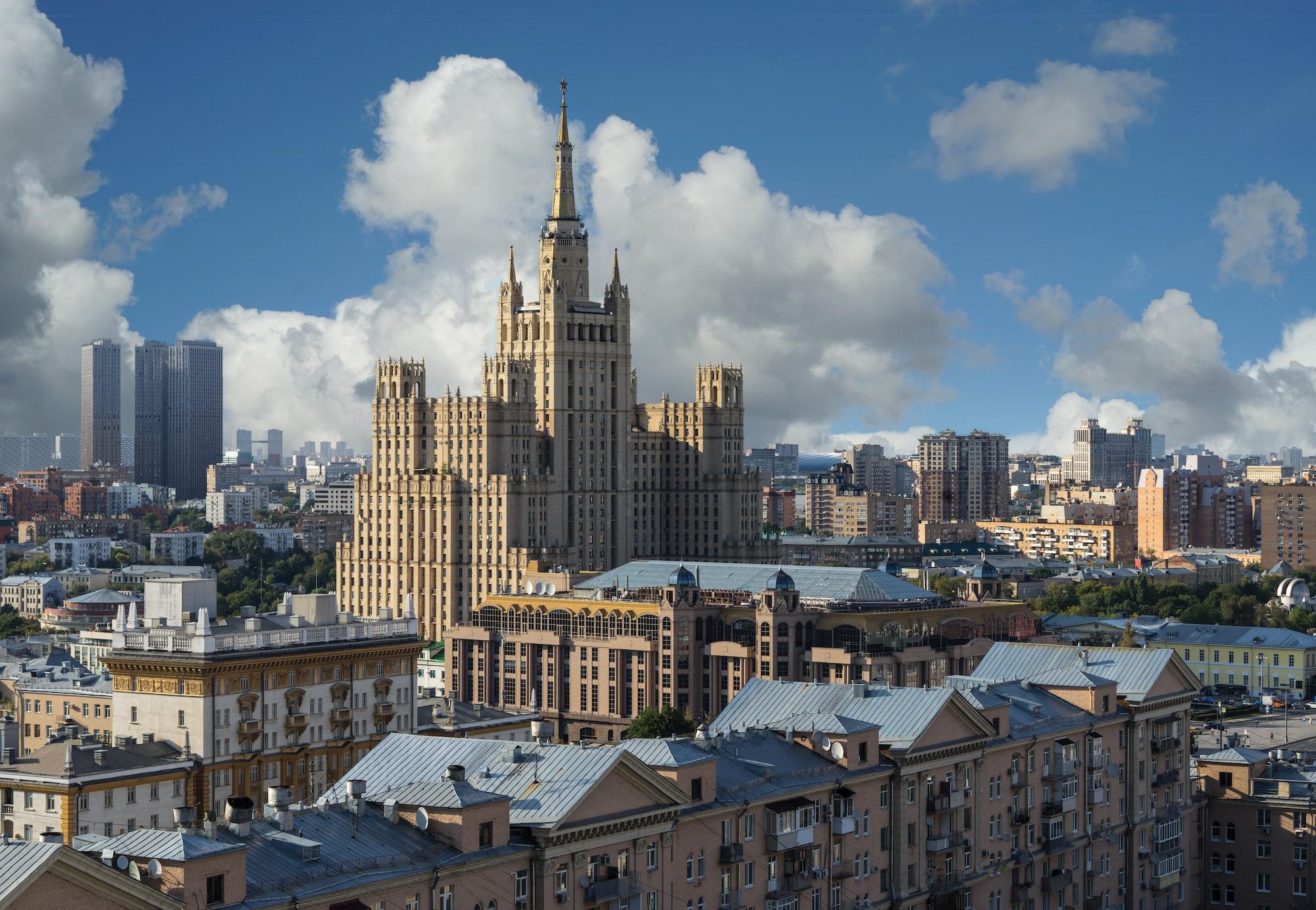 View of the Stalin skyscraper