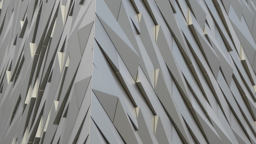 The outer building cladding at the Titanic Experience in Belfast