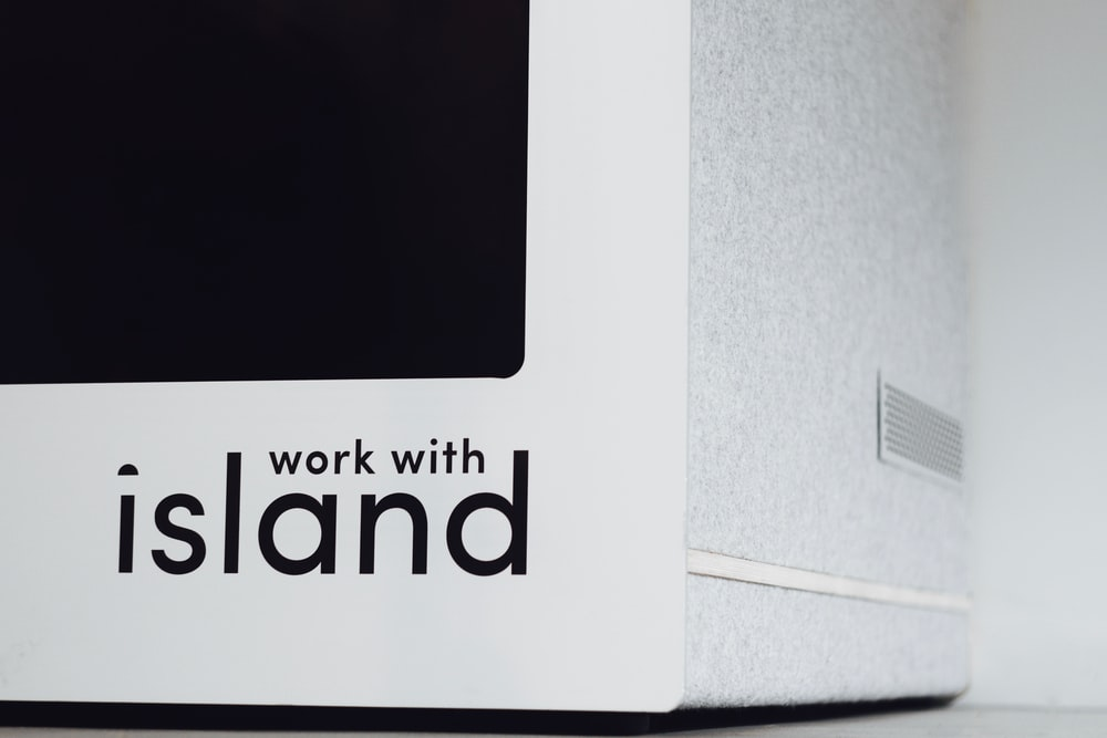 work with island text