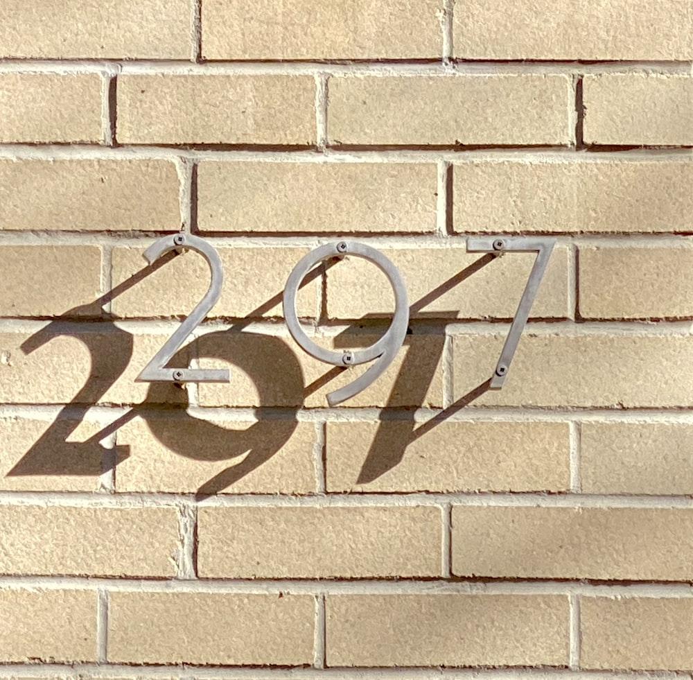 grey 297 signage