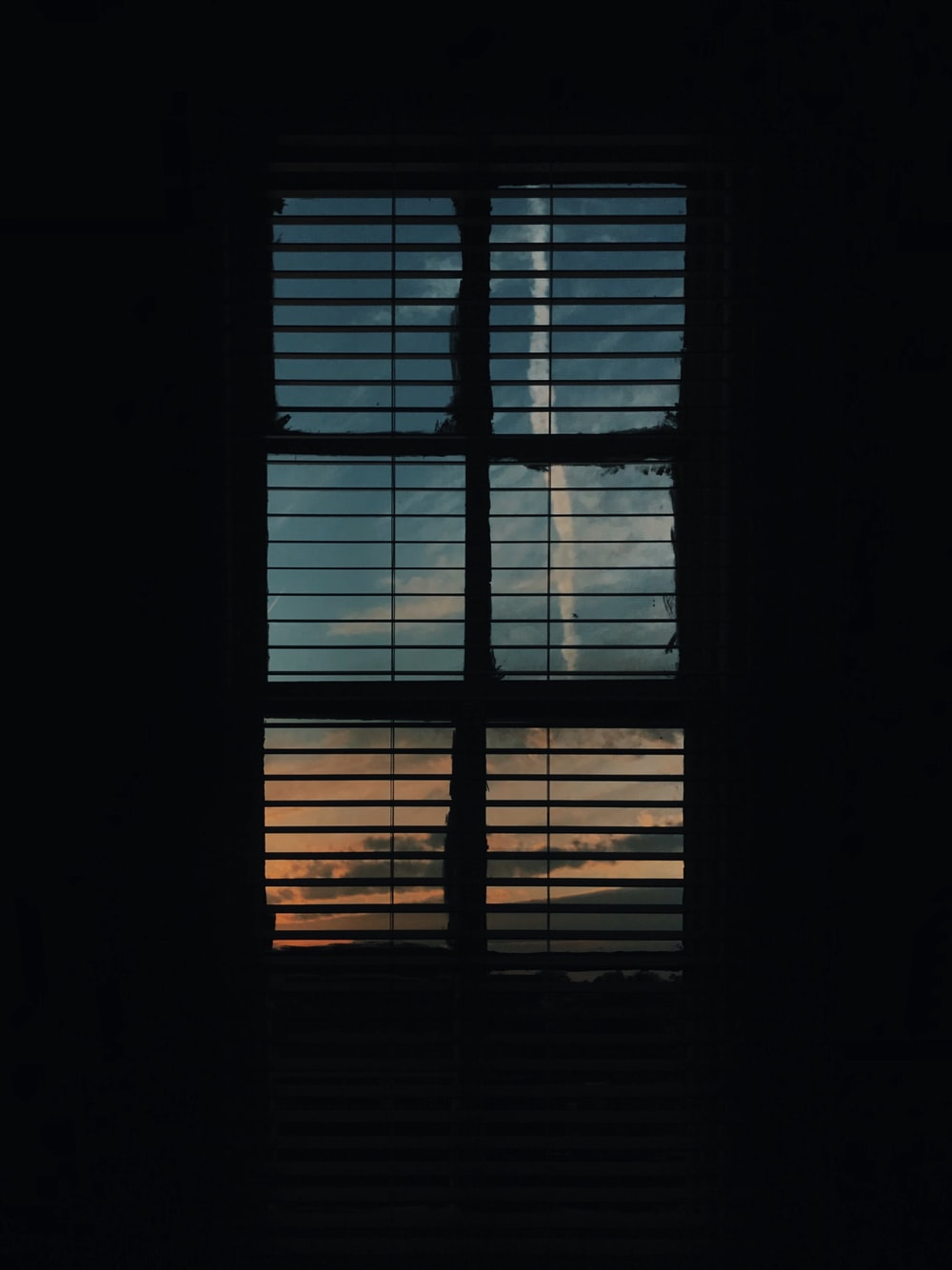 silhouette of window blinds