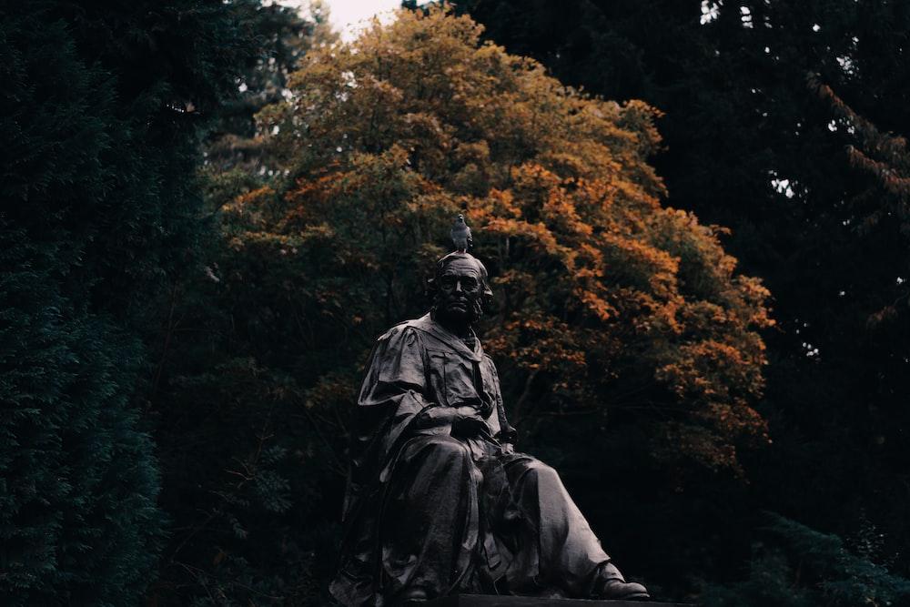 human statue during daytime