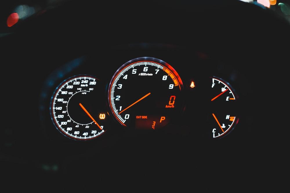 black motorcycle dashboard