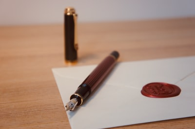 Pelikan M400 with a wax seal