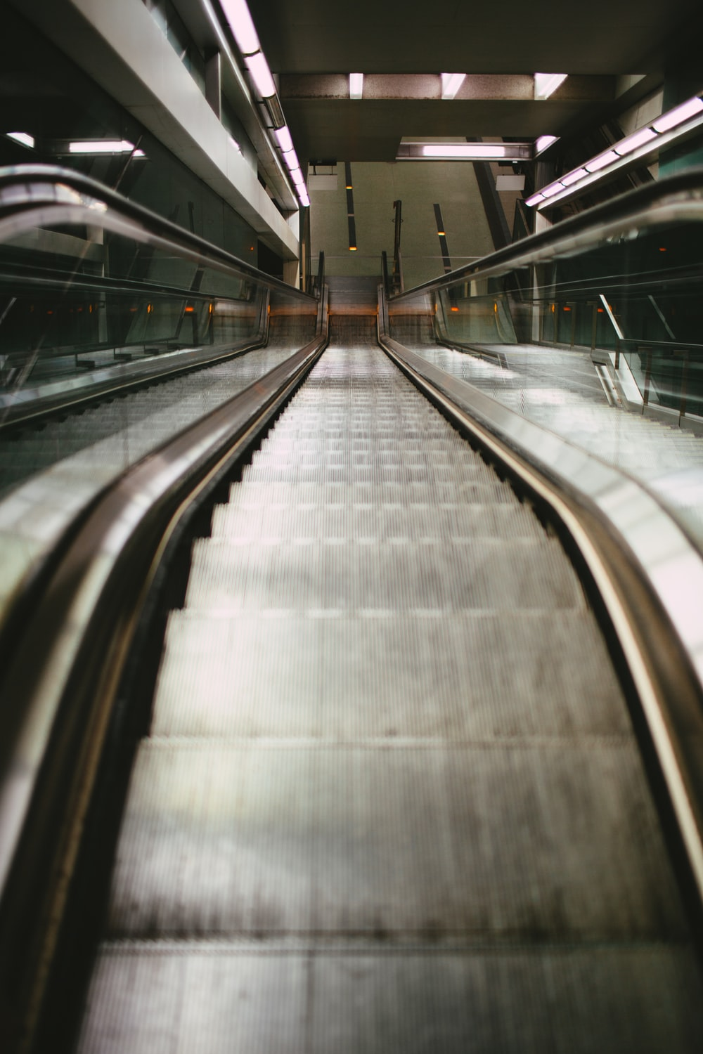 view photography of escalator