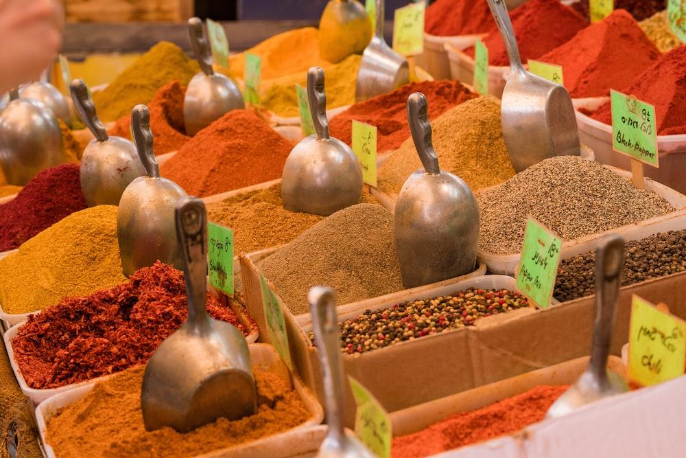 photo of assorted seasoning powders