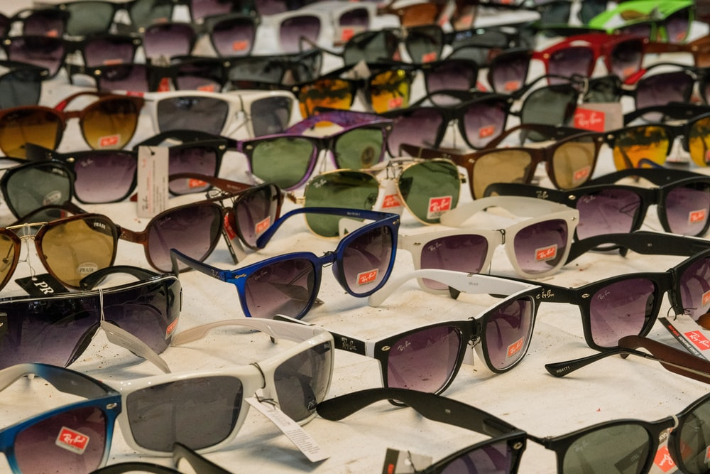 assorted-colored Ray-Ban Wayfarer sunglasses