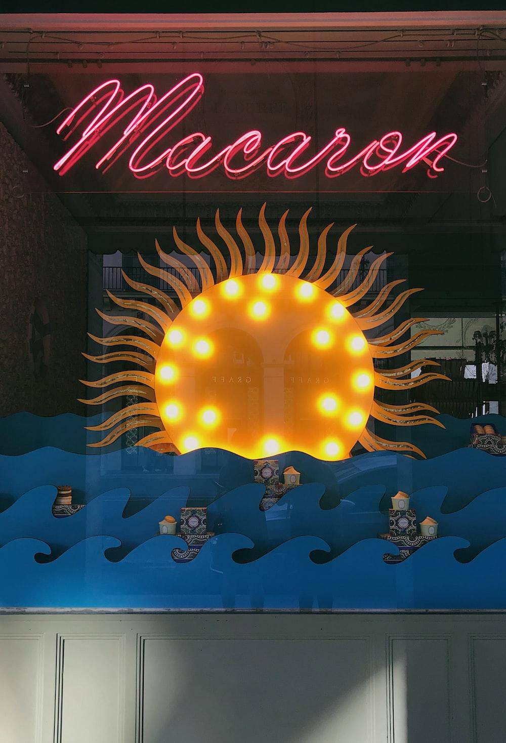 red Macaron signage