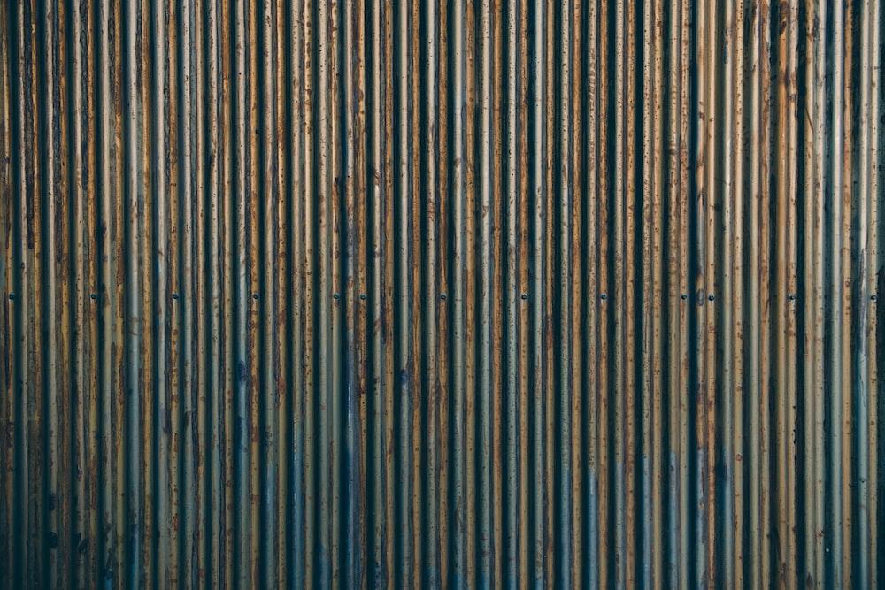 gray corrugated sheet