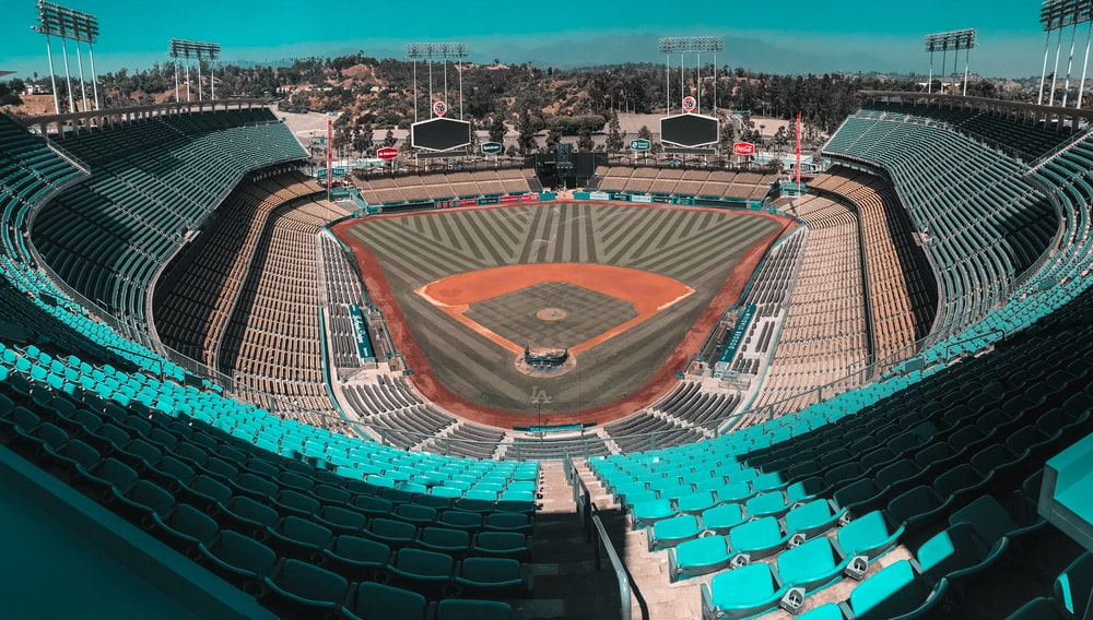 architectural photography of baseball stadium