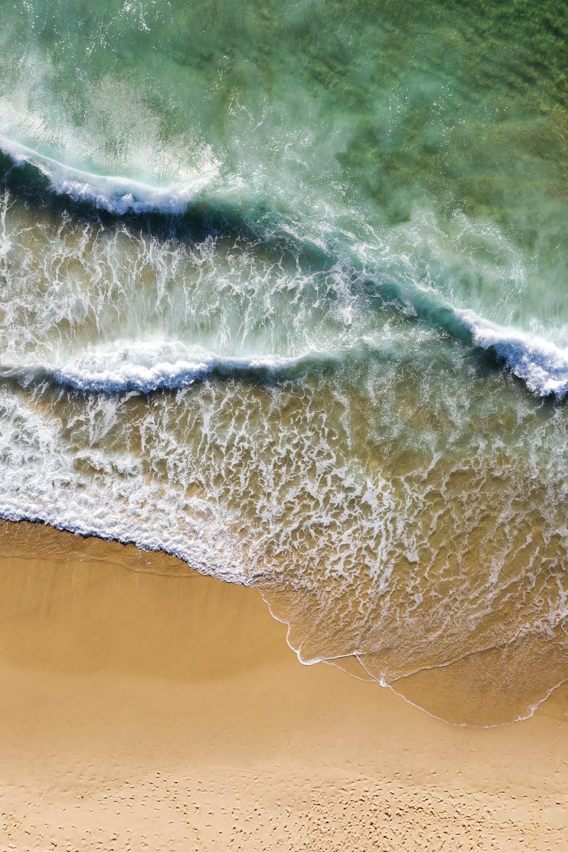 waves rush to shore