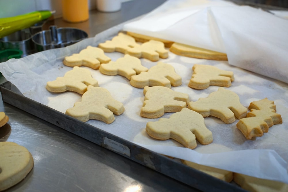 tray of animal-shaped biscuits
