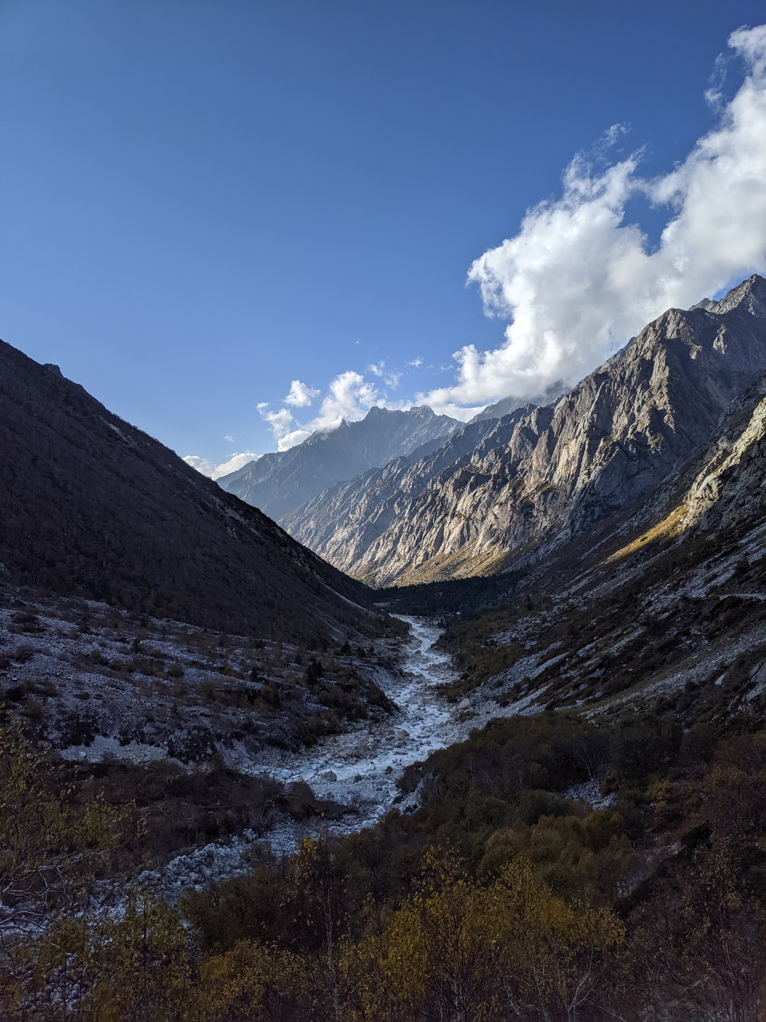 The Bhagirathi River, the source stream of the Ganges.