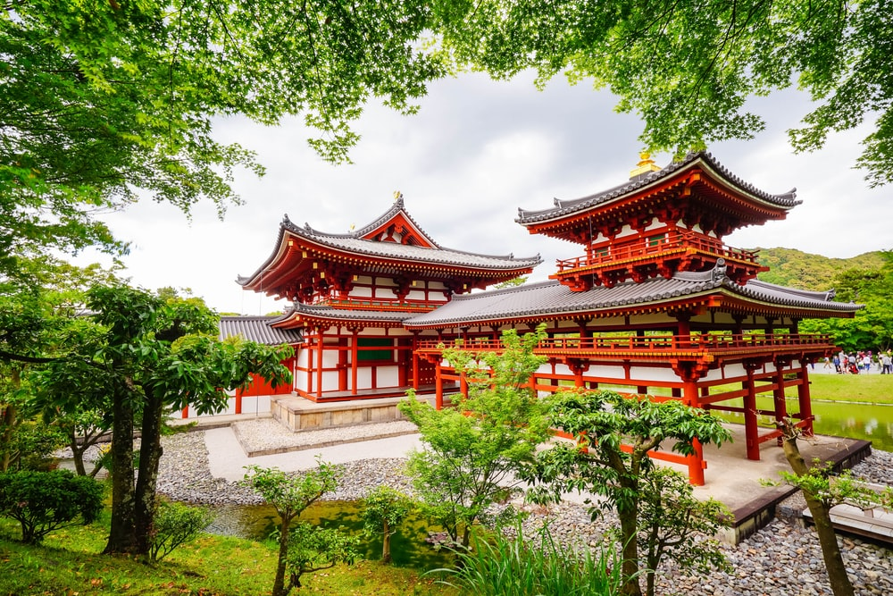 landscape photography of pagoda buildings