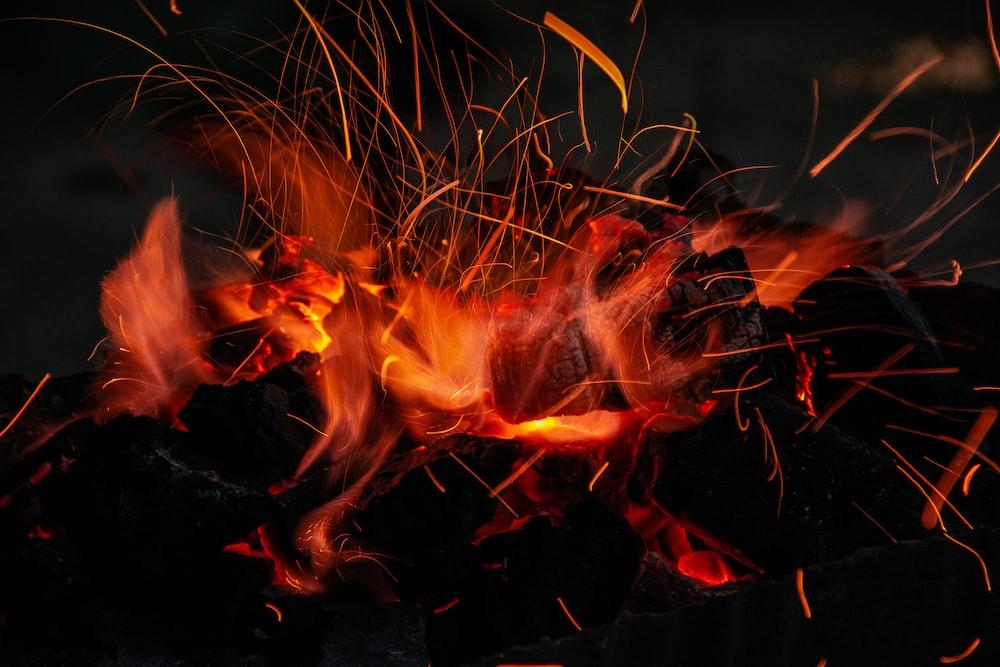 burned fire