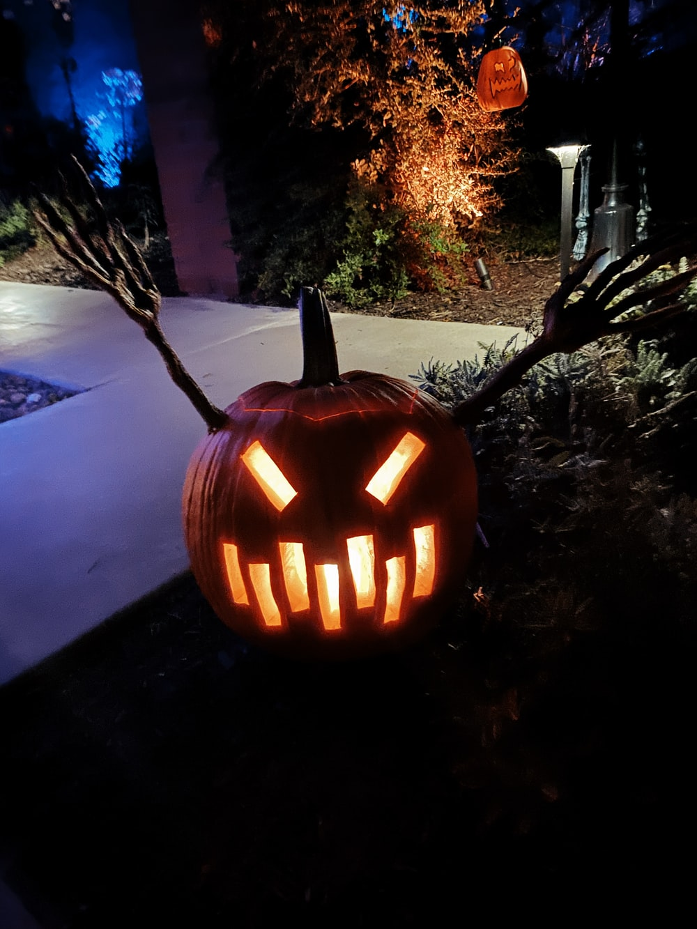 jack o lantern outdoor lamp