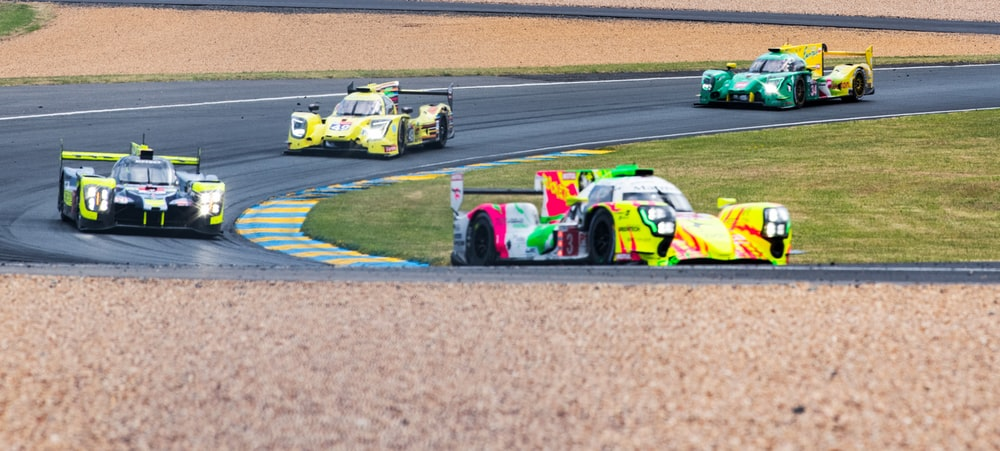 F1 formula on race track