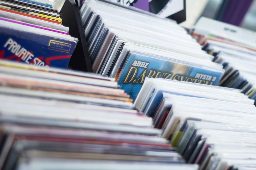 A lot of second-hand vinyls to sell