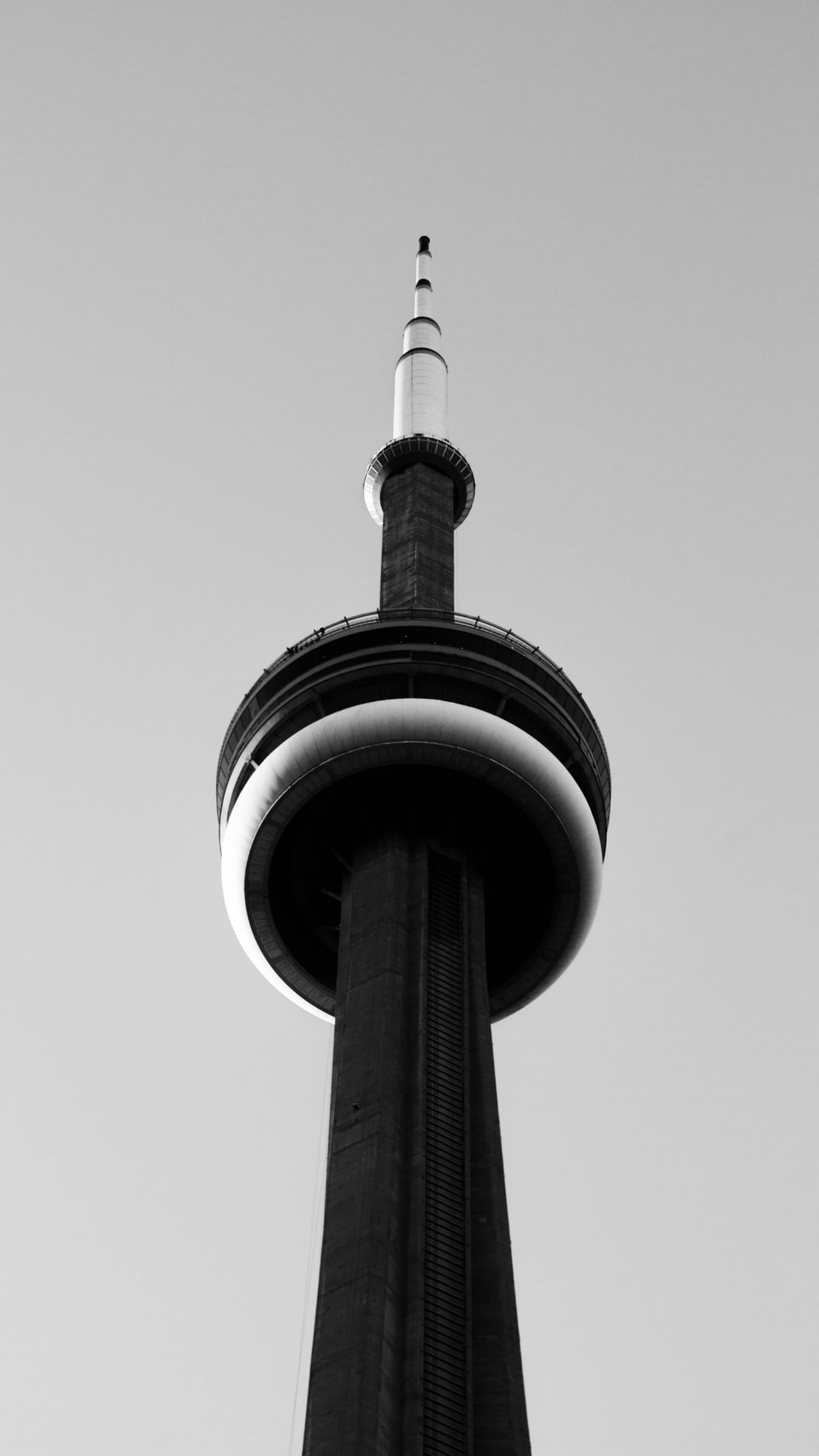 grayscale photography of tower