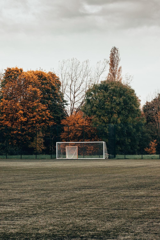 white soccer goal