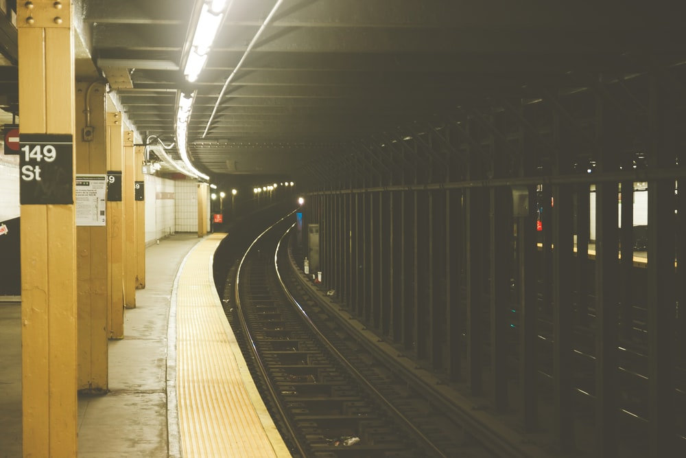 black train rails
