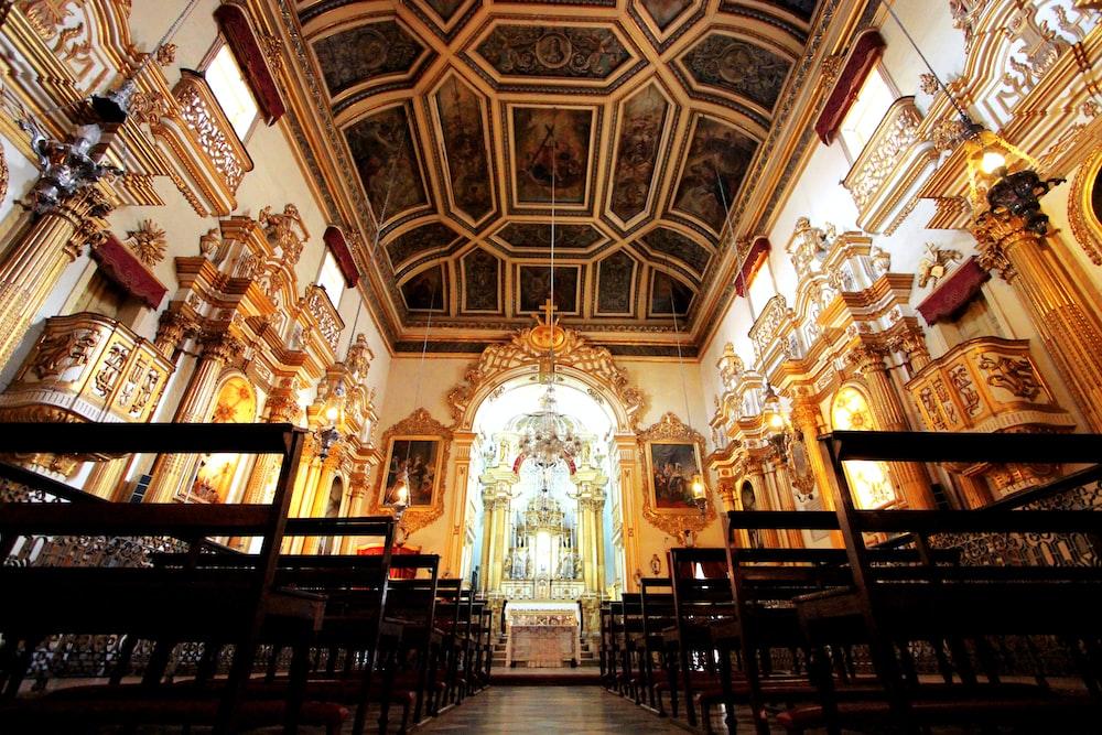 gold church interior
