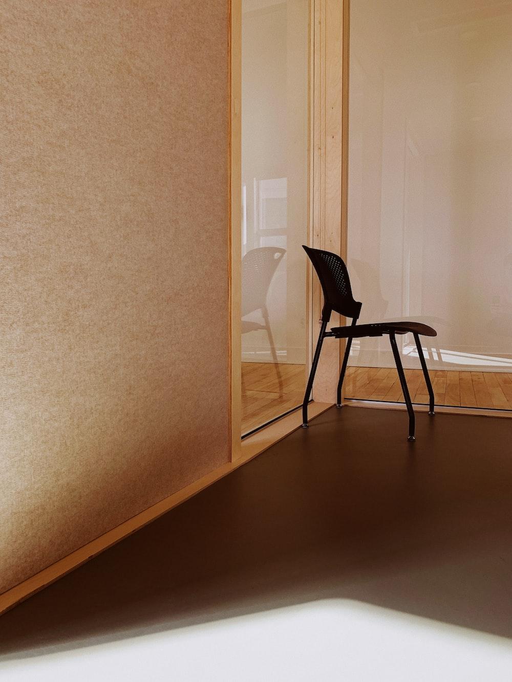 black plaited chair