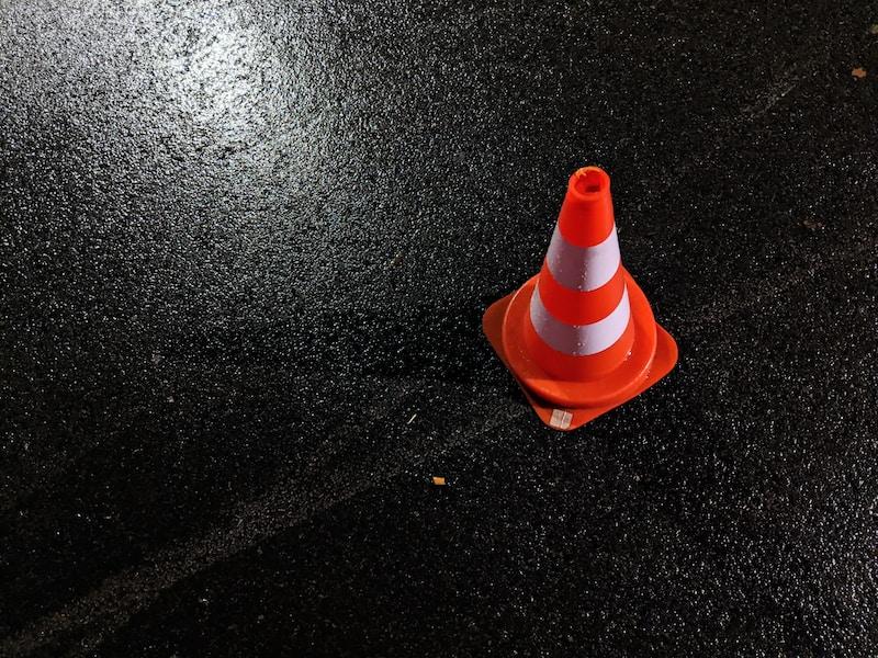 orange and white traffic cone